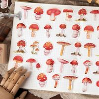45pcs/pack Mushroom Decorative Stickers DIY Decoration Diary Stickers