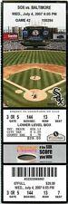 Baseball Ticket Chicago White Sox - 2007 - 7/4 Baltimore Orioles