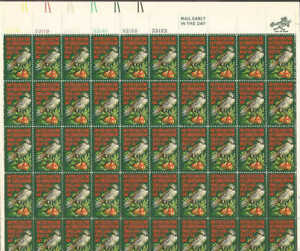 US Stamp - 1971 Partridge in a Pear Tree - 50 Stamp Sheet #1445