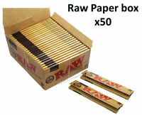 Classic Raw King Size Slim 110mm Natural Unrefined Rolling Papers FULL BOX of 50