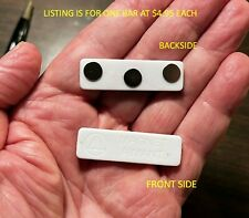 Super Strong Three Magnet Bar For Id Badge Or Name Tag Neodymium Free Shipping
