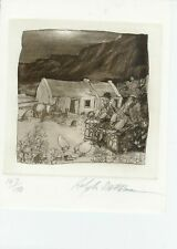 Ralph Steadman Original Ireland Irish Cottage  Signed LImited EDition