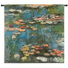 45x46 WATER LILIES Monet Lily Floral Tapestry Wall Hanging