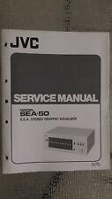 JVC sea-50 Service Manual original Repair book stereo graphic equalizer eq