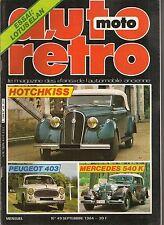 AUTO RETRO 49 HOTCHKISS 680 686 2050 GS PEUGEOT 403 LOTUS ELAN S3 LANCIA BETA SP