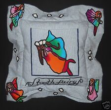 Tooth Fairy Pillow Fabric Embroidered Girls Boys Child Encore Button Back Angel