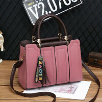 Women's Fashion Casual Bags Handbag Tassel Tote Bag Faux Leather Shoulder Bag