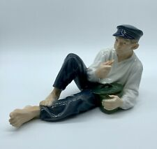 Royal Copenhagen Porcelain Figurine #865-Boy Eating Lunch-Denmark-Vintage 1960's