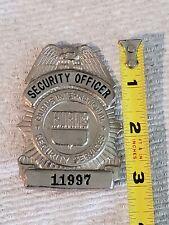 Vintage, Burns International Security Services, Officer Badge, Costume
