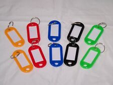 5 or 10 Key Tags W/ Split Ring, Luggage Name Tag When You Don't Need 100 of Them