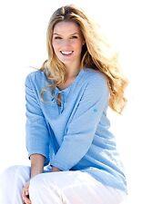 NEW WOMAN WITHIN BLUE WHITE POLKA DOT TUNIC SHIRT TOP PLUS SIZE LARGE 18W - 20W