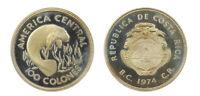 s1157_10) Costa Rica 100 colones America Central 1974 Argento Proof