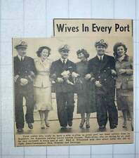 1949 Officers From La Argentina And Wives Sosa, Schultze, And Larrinaga