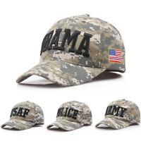 US Army Camouflage Cap Mens Womens Baseball Hat Adjustable Snapback Sport USAF