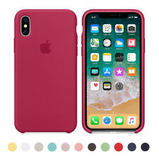 ultra fino Genuina Original funda de silicona para i Phone X 8 7 6s 6 Plus