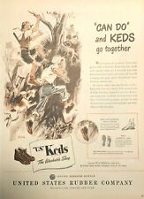 1946 KEDS Shoes Vintage Print Ad Boys Playing Can Do And KEDS Go Together