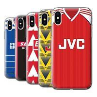 Gel Phone Case Cover for Apple iPhone/Retro Clascio English Football Shirt/Kit