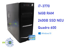 Office Business Gaming PC i7-3770 16GB 240GB SSD Win10 USB3 Computer