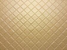 Enrejado Vinilo Pvc Oro de cuero de imitación de cuero tejido acolchado
