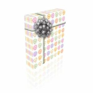 Love Hearts Personalised Valentines Gift Wrap With 2 Tags - ADD UP TO 2 NAMES!