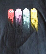 # SALE # T-Shirt - Gaming - Pacman - 4 Ghosts, Red, Pink, Green, Yellow
