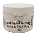 OATMEAL, MILK  HONEY Exfoliating Foaming Sugar Body Scrub, 10 oz jar