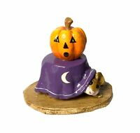"Wee Forest Folk: ""Halloween Table"" Hiding, Moon, Special Color Purple, Rare 1993"