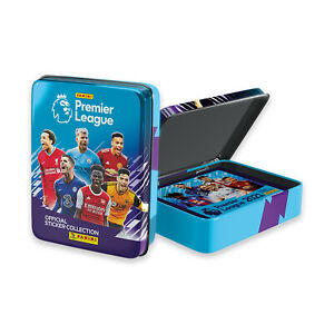 Panini 2020-21 English Premier League Soccer Collector Tin + 10 Pack 50 Stickers