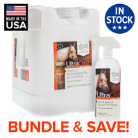 UltraCruz Equine Natural Fly and Tick Spray for Horses 32oz & 1gal Refill Bundle