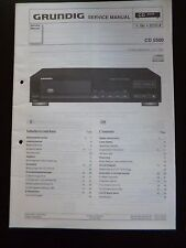 Original Service Manual  Grundig  CD 5500
