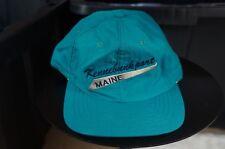 Rare Vintage SCI Kennebunkport Maine Hat Cap 80s 90s Coastal Tourism Retro  Teal 142decc37526