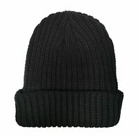 Mens Pro Climate Turn Up Thermal Knitted Warm Winter Beanie Hat