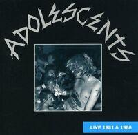 The Adolescents, Los Adolescents - Live 81-86 [New CD]