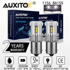 Auxito 1156 White Backup Reverse Tail Brake Lights Parking Led Blubs 7506 Ba15s