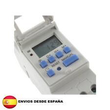 Programador Reloj Temporizador Digital Semanal carril DIN 220 v