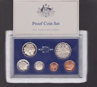 1980 Australia Proof Coin Set in Airtight Acrylic Case Foams & Certificate