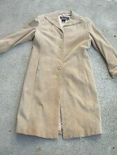 Terry Lewis Long Suede Leather Women's Coat size: XS