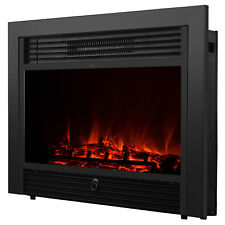 """Embedded 28.5"""" Electric Fireplace Insert Heater Log Flame with Remote Control"""