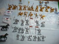 RUSSIAN -EAST EUROPEAN KNIGHT SOLDIERS LARGE  DEAL  LOT -L@@K!!!!!!!!!!!!!!!