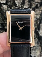 PIAGET VINTAGE 18K PINK GOLD ONYX DIAL MENS DRESS WATCH!!!