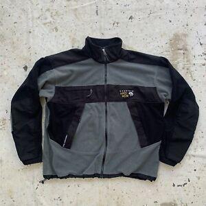 Gray and Black Mountain Hard Wear Gore Windstopper Fleece Jacket Mens XXL