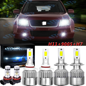 For Suzuki Grand Vitara 2006-2013 6pcs LED Headlight Hi/LoFog Light Combo Bulbs