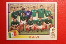 PANINI KOREA JAPAN 2002 # 493 MEXICO TEAM WITH BLUE BACK MINT!!!