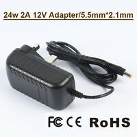 2A AC/DC12V UK Plug Power Supply Adapter Transformer for Camera/LED Strip  CCTV