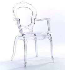 NICHES V2 Ghost Arm Clear Transparent Dressing Dining Bedroom Chair Acrylic