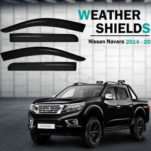Weather shields Window Visors Weathershields For Nissan Navara NP300 2014 - 2020