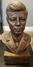 VINTAGE PRESIDENT JOHN F KENNEDY JFK BUST SCULPTURE SIGNED SIM ART CO GINFFA LEE
