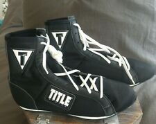 Title Boxing Shoes Us Size 10 - New, Black & White