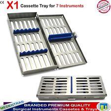 MEDENTRA ® 7 Instruments Chirurgie Dentaire stérilisation autoclave Cassette tray X1