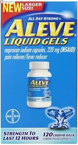 Aleve Liquid Gel 120ct Temporarily relieves minor aches and pains